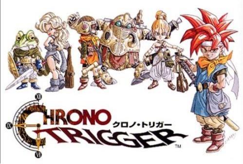 O jogo Chrono Trigger, lançado para Snes.